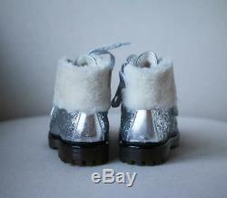 Monnalisa Kids Girls Metallic Glitter Boots Eu 27 Uk 9