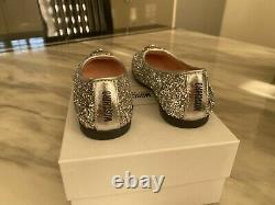 Moschino Girls Shoes Glitter Pumps Size 37/uk 4.5 Teddy Face Rrp £185