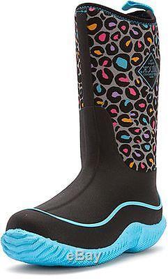Muck Boots Girls Baby Hale Kids Leopard Sport Winter WP Blue KBH-2LP