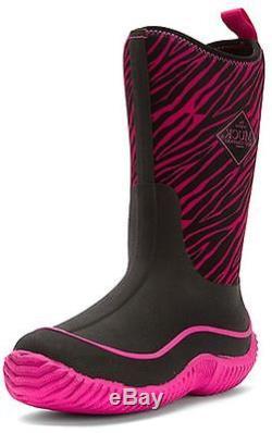 Muck Boots Girls Hale Kid Outdoor Zebra Winter Waterproof Pink KBH-4ZB