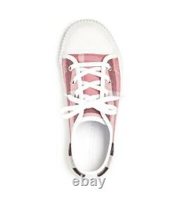 NEW $215 Burberry Girls Tensing Sneakers Trainers Shoes, Size US 2C / EU 33