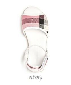 NEW $220 Burberry Girls Livvy Espadrille Sandals Shoes, Size US 3.5C / EU 35