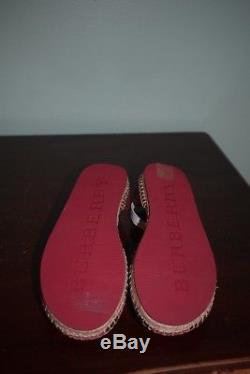 NEW! Burberry Rhimes Kids Girl Plum/Pink Espadrille Flats/Shoes 33 / US 1.5