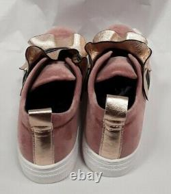 NEW Fendi Girls pink ruffle logo trainers sneakers shoes 31 US 13
