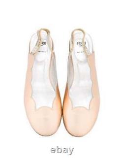 NEW Fendi girls leather scalloped slingback sandals shoes 31 US 13