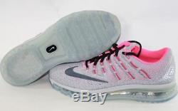 NEW Girls Kids Youth NIKE Air Max 2016 807237 002 Grey Pink Sneakers Shoes