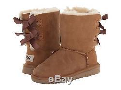 New Kids Girls Women Boot Ugg Australia Bailey Bow Chestnut 3280k/y Original