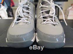 NEW Nike Air Jordan 9 Cool Gray Boys Size 1Y Youth Kids Grey White 1 Y Girls