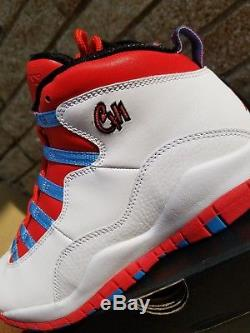 NEW Nike Air Jordan Retro 10 Chicago Flag SIZE 6.5y City Pack BG kids boys girls