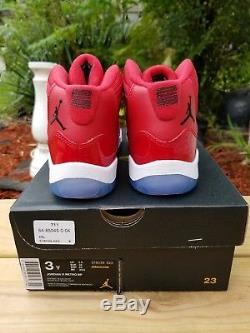 NEW Nike Air Jordan Retro 11 Win Like 96 Gym Red SIZE 3y Kids boys girls 1 2 3 4