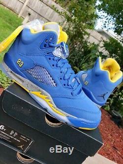 NEW Nike Air Jordan Retro 5 SIZE 6y Laney V GS Kids girls boys 6 bred 11 olive