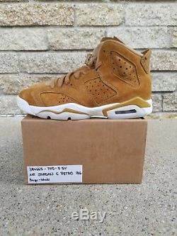NEW Nike Air Jordan Retro 6 Wheat SIZE 5.5y Golden Harvest kids boys girls 5.5 5