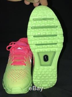 NEW Nike Air Max AirMax 2017 Green Pink Kids Girls Running Shoes Youth Size 6y