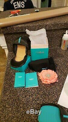 NEW Tieks Shoes Size 1 Little Miss Girls Mini Matte Black Slip On Ballet Flats
