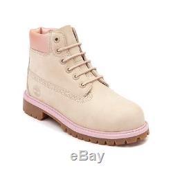 New Tween Timberland 6 Boot Sand Pink Classic Girls Kids