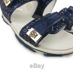 NEW Young Versace RRP£215 AGE 10YRS SIZE 34 Kids Designer Shoes Sandals Slippers
