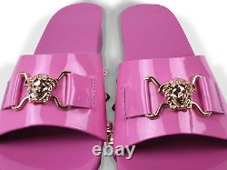 NEW Young Versace RRP £269 Kids Designer Shoes Slippers Sandals AGE 14Y SIZE 38