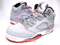 NEW Youth Air Jordan V GG Hot Lava 5 Cool Grey Black 440892-018 GS Kids Girls