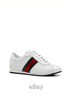 NIB NEW Gucci kids girls white impreme red green web lace up sneakers 28 or 30