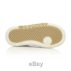 NIB NEW Moschino kids girls black leather sneakers shoes logo 38 US 6