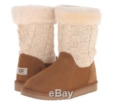 NIB UGG Australia Kids JUNIPER Boots Booties CHESTNUT Girls 2 M