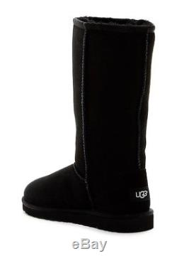 NIB Youth Girl's UGG 1017713K BLK Classic Tall II Boots Black (Litt Kid/Big Kid)