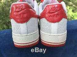 NIKE AIR FORCE 1 Sport Red Vintage Nearly New Basketball Girls Boys Shoes Sz 6 Y