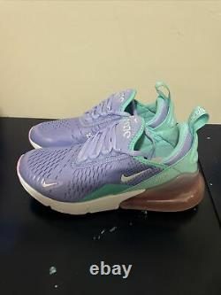 NIKE AIR MAX 270 Running Shoes BV1236-400 Size 5Y Twilight Pulse Light