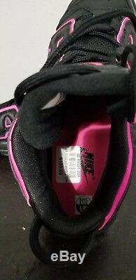 NIKE AIR MORE UPTEMPO Black And Pink Girls GS Kids Pippen SZ 6.5 Y New