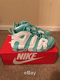 NIKE AIR MORE UPTEMPO Island Green and White 415082 300 Girls GS Pippen Kids