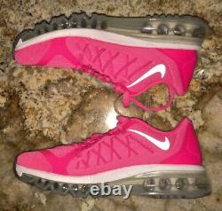NIKE Air Max 2015 360 Viv Pink Power Running Training Shoes NEW Youth Girls 5.5