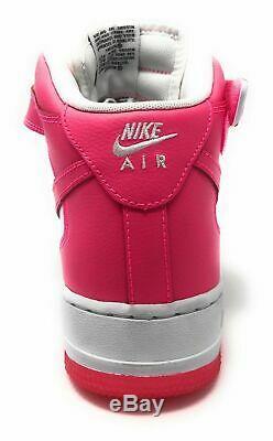 NIKE GIRLS AIR FORCE 1 MID Big Kids Hyper Pink White SZ US 7Y UK 6 EUR 40 NEW