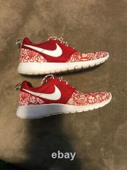 NIKE ROSHE ONE PRINT GS YOUTH RUNNING TRAINING SHOES UNIVERSITY RED sz 6Y