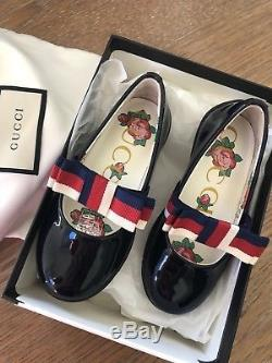 NWT Gucci Patent Shoes Size 23 Kids With Box