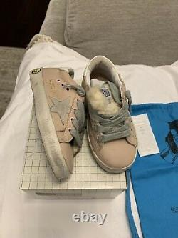 New Auth Golden Goose Sneakers Kids Girls Fashion Shoes Faux Fur 24 8.5 $335