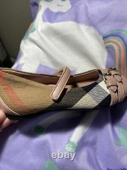 New Burberry Shoes Kids Girls Sz. 25/U. S 8.5