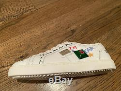 New D&G Dolce Gabbana Girl White Leather Sneakers Shoes Size 28 11