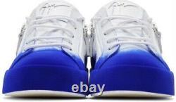 New Giuseppe Zanotti Boy Girl White Blue Flashy May London Sneakers Shoes 31 13
