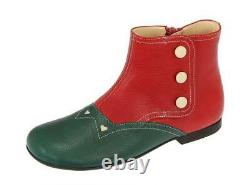 New Gucci Red Green Girls Toddler Flat Boots Shoes 31/us 13