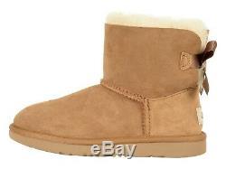 New Kids Girl Women 2019 Ugg Boot Mini Bailey Bow II Chestnut Orig 1017397k Che