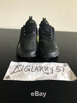 New Nike Air Max 270 GS Black Volt Kids Boys Girls 943345-011 7Y $150 Retail