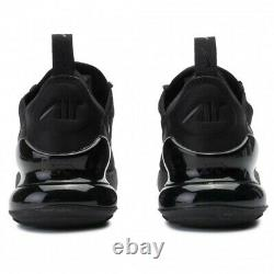 New Nike Air Max 270 YOUTH Size 5 (GS) Women Sz. 6.5 Black Shoes BQ5776 001