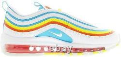 New Nike Air Max 97 Youth Size 5Y Shoes 10 White/Multi CK0052 400