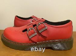 New RARE Dr Marten Size 2 us RED Mary Janes kids shoes double strap rockabilly
