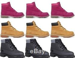 New Timberland Boots 6 Leather Shoes Waterproof Ankle Boys Girls Wheat Sale 2-6