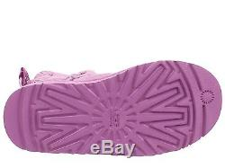 New UGG Uggs Classic Kids Girls Toddler PINK Bailey Bow Splash Youth Boots 6 7