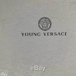 New Young Versace Blue Suede Leather Boots Kids Children Boy Girl