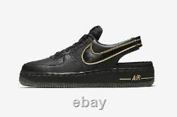 New Youth Air Force 1 Vtf Gs'black Metallic Gold' Casual Shoes Sz 5y Cj7158-001