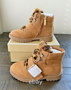 Nib Girl Michael Kors Madeline Reina Tan Sneakers Booties Boots Shoes Mult Sz