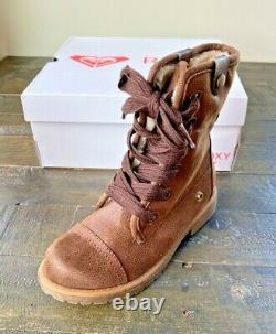 Nib Girls Roxy Bruna Foldover Lace Up Chocolate Boots Shoes Mult Sz Argb600009
